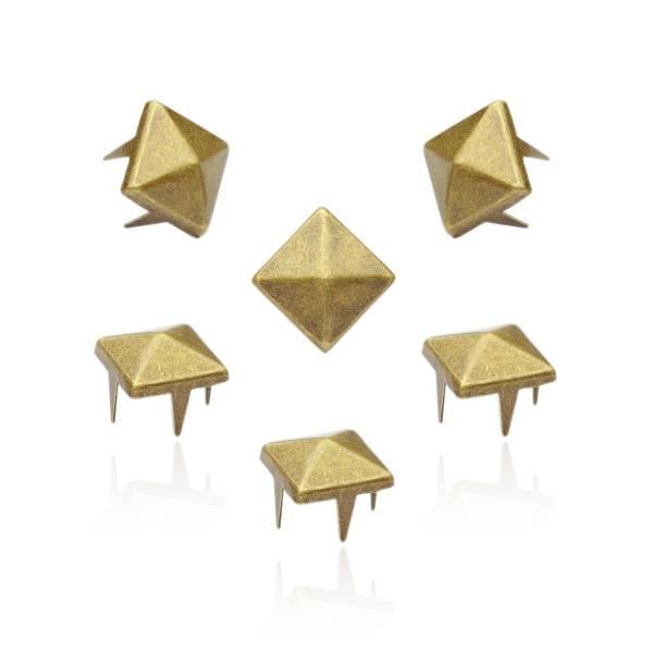 Pyramidennieten Altgold