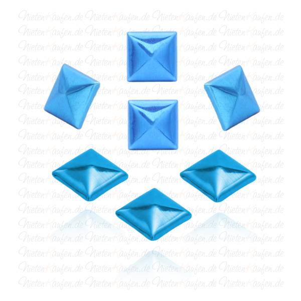 Blaue Pyramiedennieten -  Klebenieten - Bastelnieten - Nieten zum Aufkleben