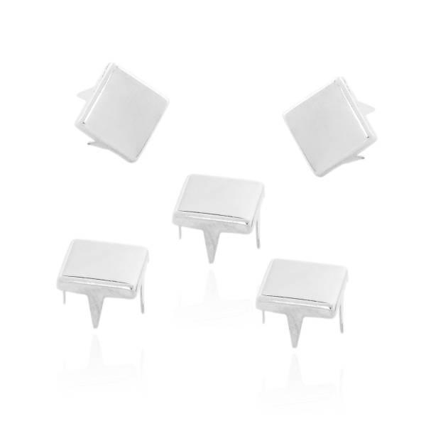 Quadrat Nieten Silber 8 mm ( FLAT )