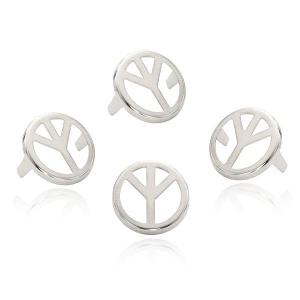 Peace Nieten - Friedenssymbol Nieten