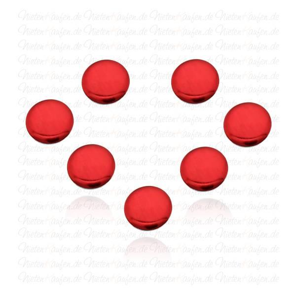5mm Rote Rundnieten - Klebenieten - Bastelnieten - Nieten zum Aufkleben - Bügelnieten - Nieten zum Aufbügeln