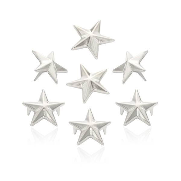 Stern Nieten Silber 15mm