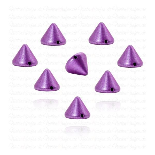 Killernieten in Lila Metallic zum Aufnähen oder Aufkleben 10 mm