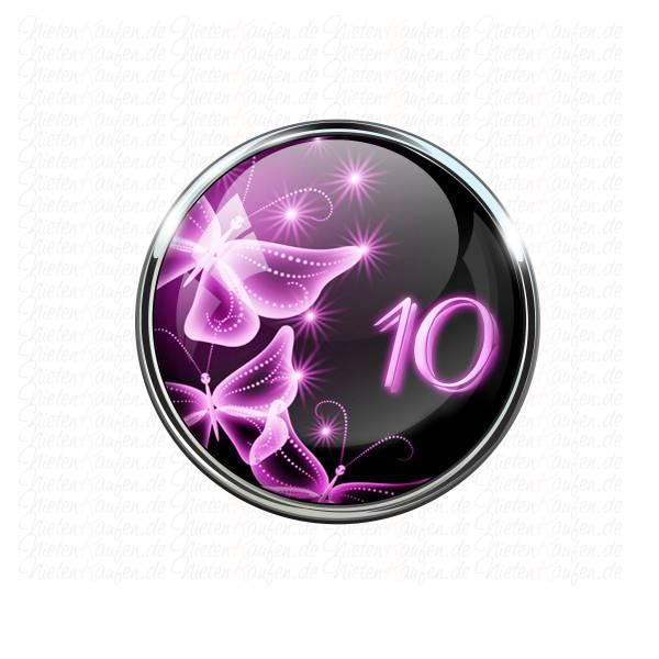 10ner Zahlen Motiv Chunk mit Schmetterling Motiv