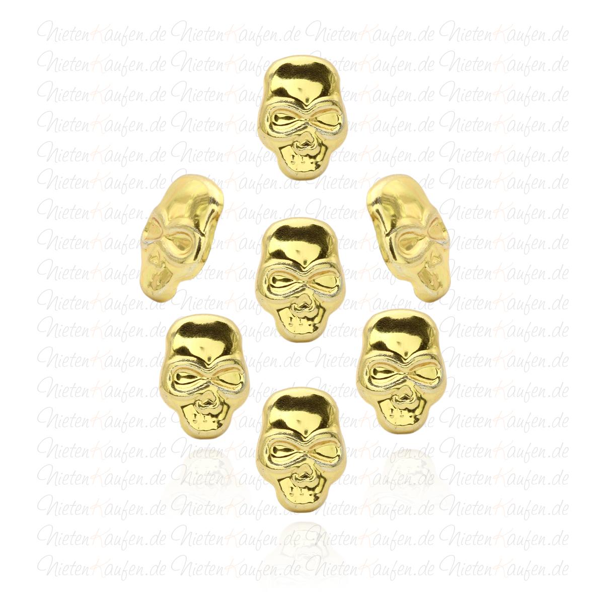 goldene totenkopf nieten zum aufb geln oder aufkleben hotfix spezialnieten zum aufb geln. Black Bedroom Furniture Sets. Home Design Ideas