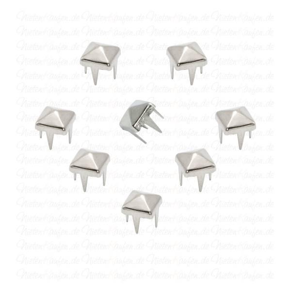 Pyramidennieten Silber 5 mm