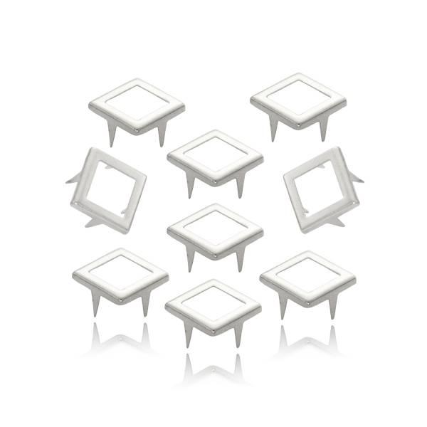 Quadrat Nieten Silber 12 mm