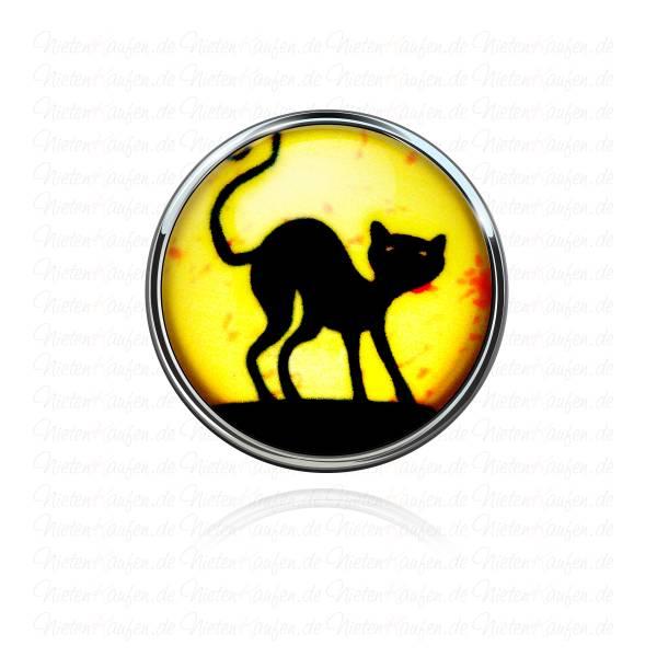18mm Cat Chunk Button - Chunk Druckknopf mit Katzen Motiv