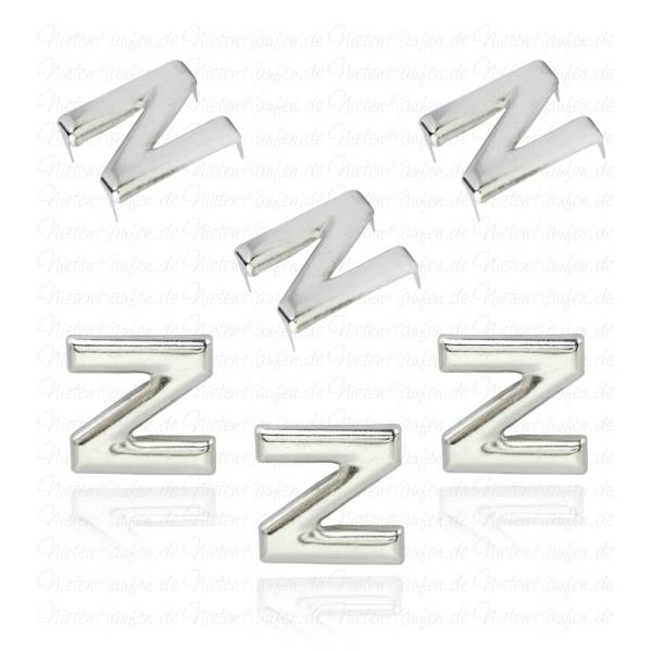 Z - Metall Buchstaben Niete - Alphabet Nieten