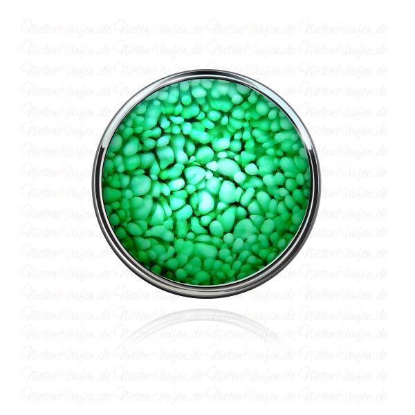 Unikat 3D Steinoptik Chunk Button Grün
