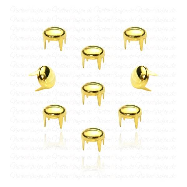 Goldene Rundnieten 6mm