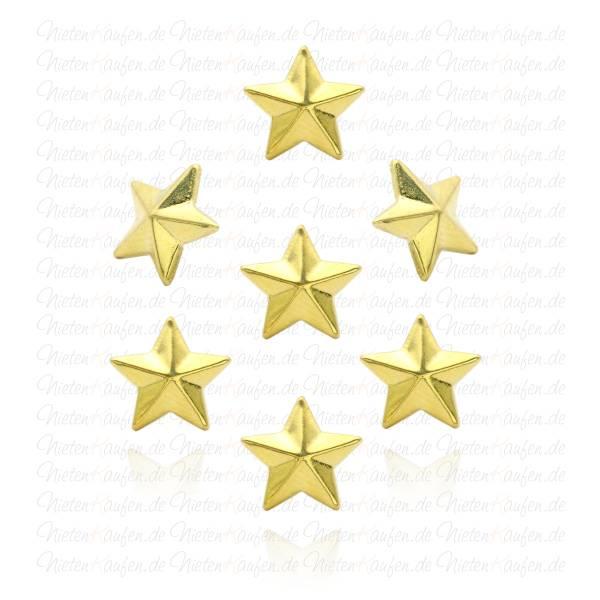 Goldene Sternnieten -  Klebenieten - Bastelnieten - Nieten zum Aufkleben