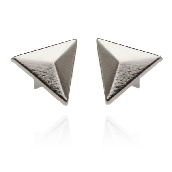 16 mm Dreieck Nieten Silber