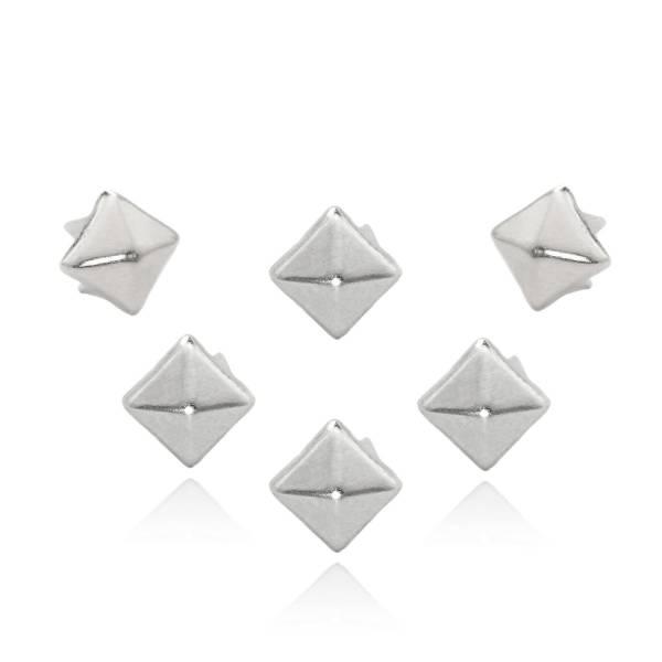 Pyramidennieten 5 mm Silber