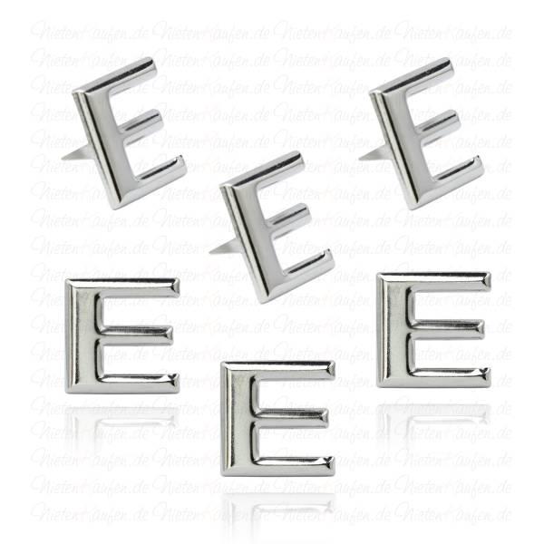 E - Metall Buchstaben Niete - Alphabet Nieten