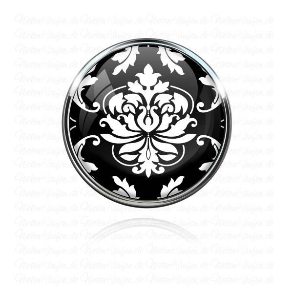Chunk Button - Chunk Druckknopf Schwarz mit Tribal Muster